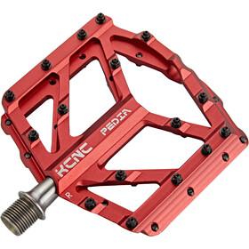 KCNC Pedia 2 Pedali Platform Slim per MTB/BMX, rosso